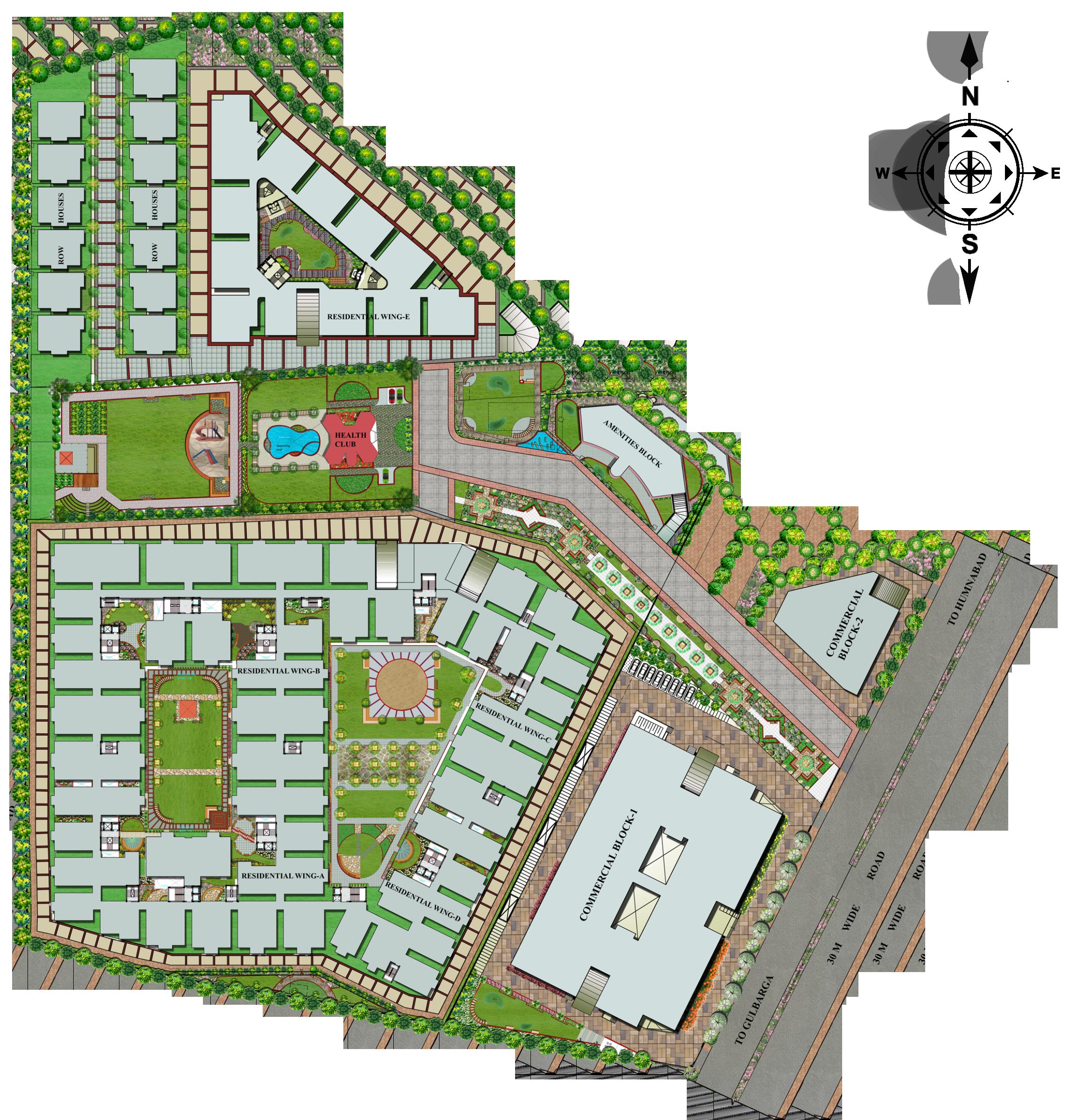 Site plan bharat pride park for Residential site plan